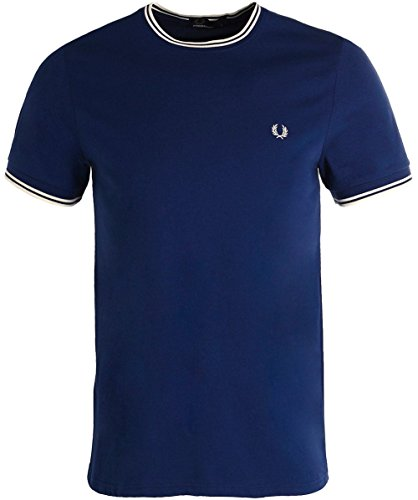 Fred Perry Herren T-Shirt Fp Twin Tipped Blu (Medieval Blue)