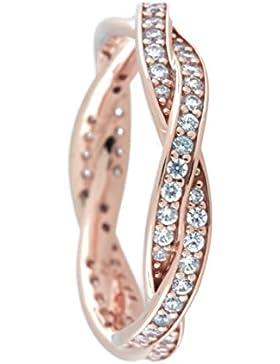 Pandora Ring für Damen Verbundene Treue Rosé 180892CZ