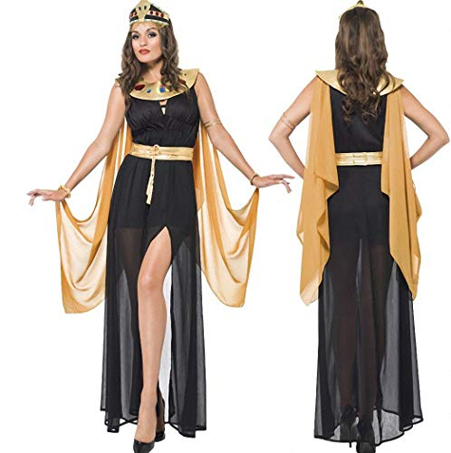 (Frauen Sexy ägyptische Königin Kleopatra Kostüm Adult Fancy Party Halloween Cosplay Kostüm Kleid)