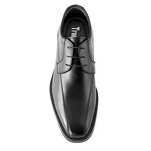 Masaltos - Chaussures rehaussantes pour homme. Jusqu'à 7 cm plus grand! Modèle Porma Noir