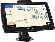 AWESAFE Navigation für Auto 7 Zoll Navi mit Rückfahrkamera und Bluetooth, 2020 Europa Karten, Lebenslang kostenlos Kartenupd