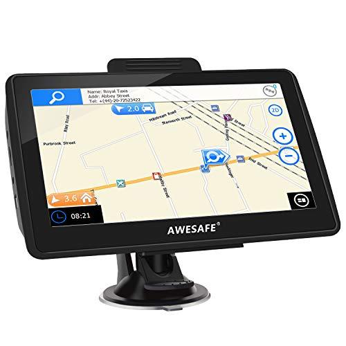 AWESAFE Navigation für Auto 7 Zoll Navi mit Rückfahrkamera und Bluetooth, 2020 Europa Karten, Lebenslang kostenlos Kartenupdate