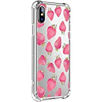 Oihxse Transparente Silicona Funda Compatible con iPhone 6/iPhone 6S Carcasa Ultra-Delgado Suave TPU Gel Airbag Esquinas Anti Rasguños Lindo Protector Case Bumper(A11)