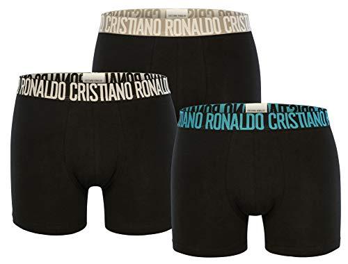 CR7 Cristiano Ronaldo - Basic - Boxershorts/Retroshorts für Herren (8100-49) - 3-Pack - Schwarz/Mix (2712) - Grösse Medium (CR7-JBS-8100-49-2712-M)
