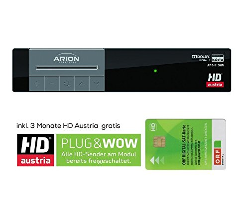 Arion ARS-6130IR SET HDTV Satelliten Receiver inklusive neuer ORF HD KARTE digital SAT Empfangsgerät (Lg Hdtv-receiver)