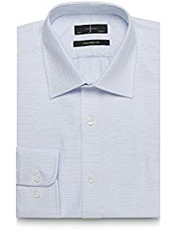 J By Jasper Conran Big and Tall Blue Dobby Tailored Fit Shirt