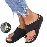 Women Big Toe Foot Correction Sandal Orthopedic Bunion Corrector PU Leather Shoes Comfy