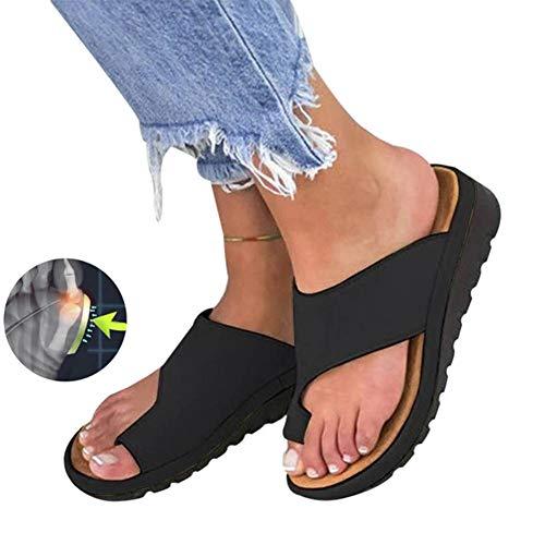 ebacf0f75b9f2 TQMK Frauen Orthopädische Bunion Corrector PU Leder Schuhe Outdoor Comfy  Plattform Sohle Casual Weichen Fuß Kappe Richtige Begradigen ...