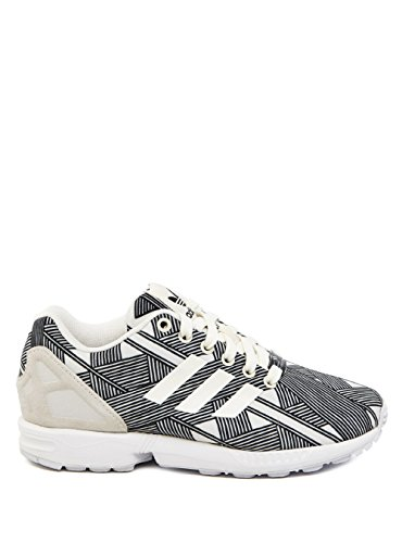 best website 64781 17783 adidas ZX Flux Sneakers a Collo Basso, Donna (Black White)
