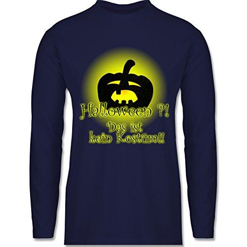 Halloween - Kein Halloweenkostüm - Longsleeve / langärmeliges T-Shirt für Herren Navy Blau