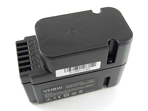 vhbw Akku passend für Worx Landroid L1500i WG798E, M 500B WG755E, M WG794E, M WG794EDC Mähroboter ersetzt WA3225, WA3565 - (Li-Ion, 2000mAh, 28V)