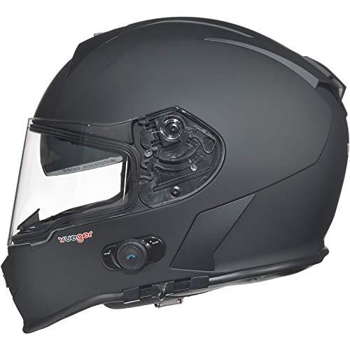 RT-770 Bluetooth Integralhelm Motorradhelm Integral Motorrad Quad Helm rueger, Größe:L (59-60), Farbe:Matt Schwarz - 3