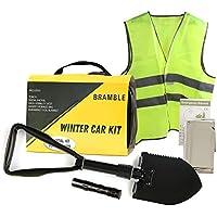 Bramble 6 Pack Kit de Emergencia Coche, Invierno - Asistencia en Carretera, Kit de Supervivencia de Seguridad| Chaleco Reflectante, Pala Plegable, Manta de Emergencia etc