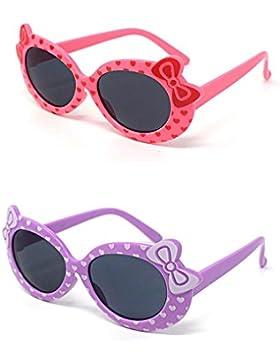 2 x per bambini ragazzi ragazze 1 rosa 1 viola elegante Hello kitty stile UV400 occhiali da sole