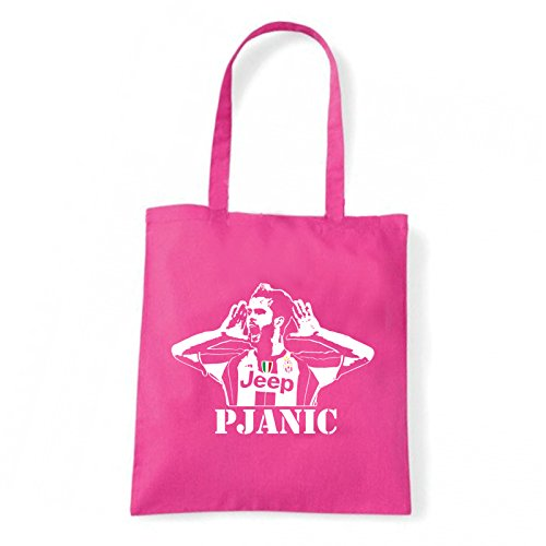 Art T-shirt, Borsa Shoulder Miralem Pjanic, Shopper, Mare Fucsia