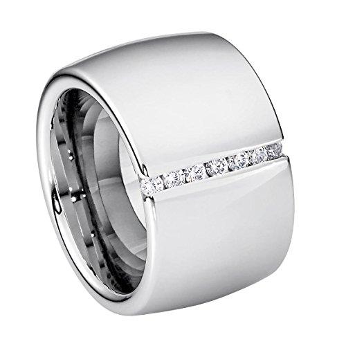 artis Steel_Art Ring Lines silberfarben DE 60 ()