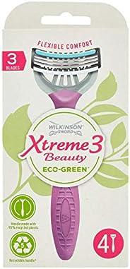 Wilkinson Sword - Xtreme 3 Beauty Eco Green X 4 - Rasoio Usa&Getta Donna Ecosostenibile E Riciclabile - 7