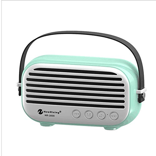 Shfmx Portable Wireless Bluetooth Speaker High-Def Sound, Built-in with FM-Radio, TF-Karte/U-Platte/aux/Perfect for Home, Outdoor, Square Dance, Car,Blue Blue Square Platte