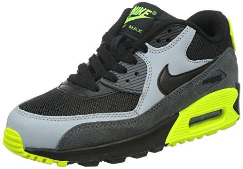 Nike Junge, Sportschuhe, air max 90 mesh (gs) schwarz (Black/Black-Wolf Grey-Drk Grey)