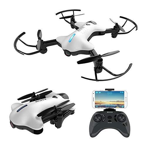 ATOYX AT-146 Drohne mit Kamera HD 720P WiFi FPV Quadrocopter, App-Steuerung, One Key Start/Landung,Headless Modus,Faltdrohne für Anfänger und Kinder