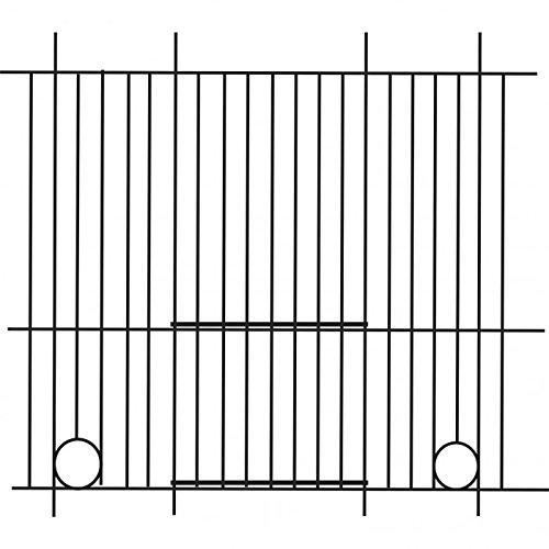 Pennine - Rejilla delantera para jaula de canarios (40cm X 25cm) (Talla Única/Plata)