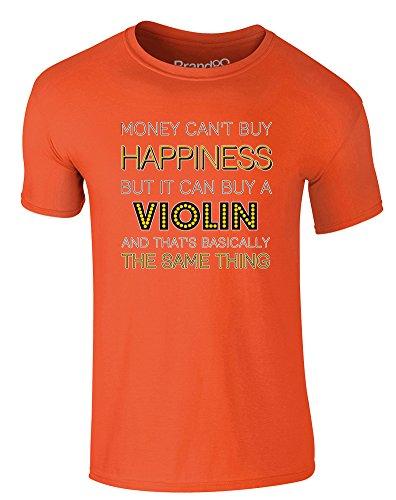Brand88 - Money Can Buy A Violin, Erwachsene Gedrucktes T-Shirt Orange