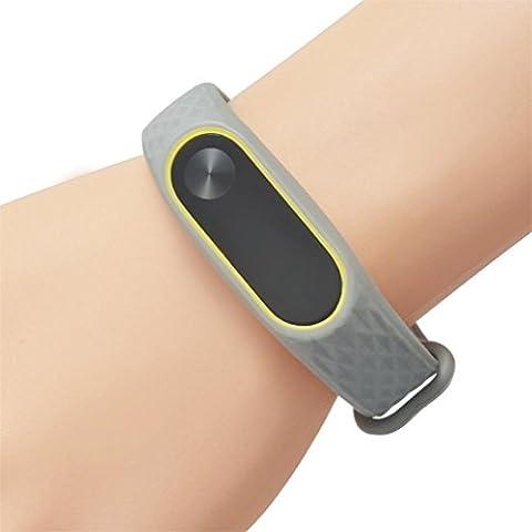 Upxiang Art und Weise ursprünglicher Silikon-Handgelenk-Bügel, Wiedereinbau WristBand Armband für XIAOMI MI Band 2 (D)