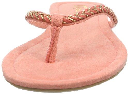 Buffalo Girl 622-1 IMI SUEDE 152146 Damen Zehentrenner Pink (CORAL 01)