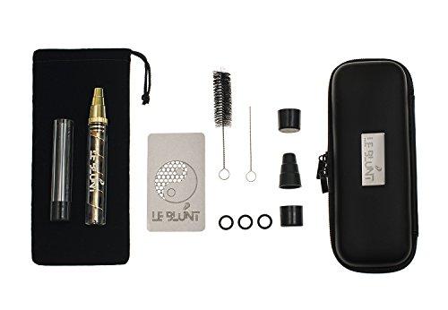 LeBlunt Twisty Glass Blunt-Rohr für trockene Kräuter und Gewürze - komplettes Klarglas-Set - wird mit einer Glasflasche, einem Reinigungsset und einer Kartenmühle geliefert (Zigaretten-unkraut-rohr)