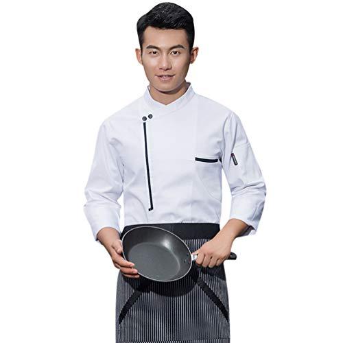 Dooxii unisex donna uomo autunno manica lunga giacca da chef professionale ristorante occidentale torta di cottura uniformi divise da cuoco