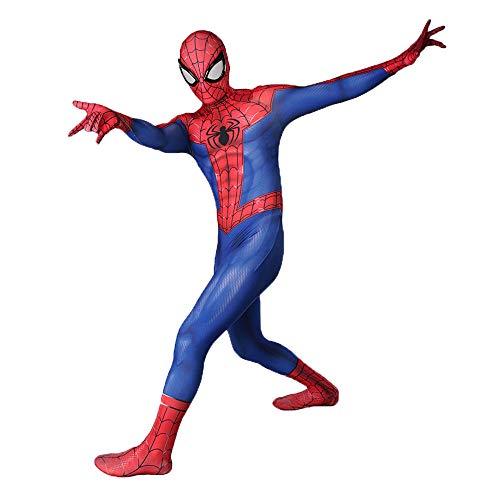 Superhelden Kostüm Xxl - AKCHIUY Halloween Spiderman Kostüm,Kinder Superheld Weihnachten Film Kostüm Requisiten Fasching Onesies Costume Party,Adult-XXL