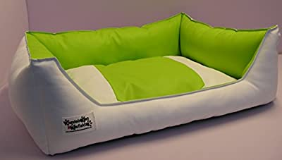 Acceso Dog Sofa / Bed Artificial Leather 105 CM X 80 CM White Lime green - low-cost UK light store.