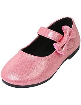 JIANGFU Kinder/Bogen/Prinzessin Schuhe, Baby Fashion Kleinkind Kinder Ballerina Bowknot Prinzessin Casual Flache...