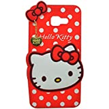 4 Season 3D Designer Hello Kitty Back Cover For SAMSUNG GALAXY J7 MAX - Red