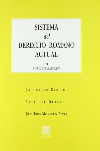 Sistema del Derecho Romano Actual
