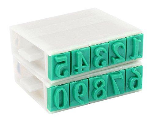 Sourcingmap 13 mm Ziffern 0-9, Gummi/Kunststoff-Kombination Stempel -