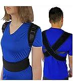 JHKJ Correcteur Posture Soutien Dos clavicule Respirante entièrement Ajustable améliore soulagement Posture douleurs dorsales - Parfait pour l'adulte et l'enfant,M