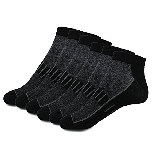your+ Damen und Herren Sportsocken - Funktions-Socken - Antibakteriell optimales Fußklima (6 Paar) (schwarz, 39-42)