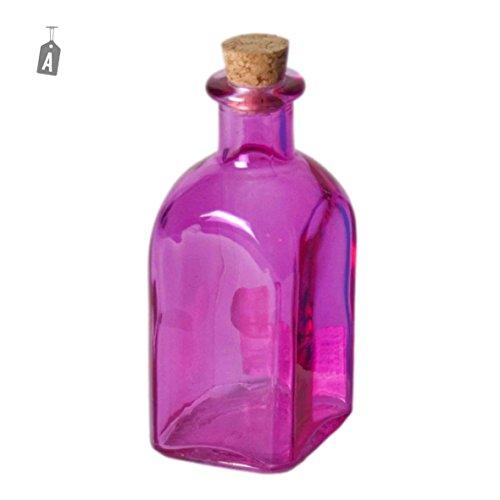 Bouteille en verre avec bouchon liège ml.120 4 couleurs – Mod.À
