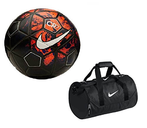Giftadia FIFA Official Nike CR7 Replica Multicolor Football With Nike Duffle Canvas Sports Kit Bag  available at amazon for Rs.799