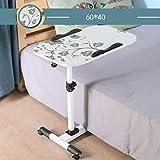 YS-FeiTeng Mesa Plegable - Mesa de la computadora del Escritorio Que Levanta la Mesa portátil del Perezoso Mesa móvil Plegable Mesa de la computadora Mesa de enfermería se Puede Subir y Bajar