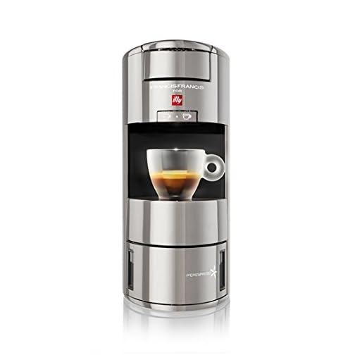 freestanding, macchina da caff/è Pod, capsule di caff/è, argento, alluminio, cromo, espresso Illy X9 IPERESPRESSO Caffettiere