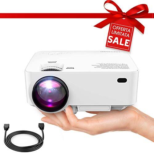 Foto DBPOWER T20 Videoproiettore Portatile Full HD 1080P, Con Cavo HDMI Gratuito...