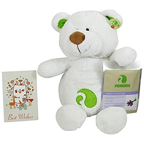 Yumi Bio Shop - Orso in Peluche con Cuscinetto di Erbe per Aromaterapia con Pad Rilassante alla Lavanda per Sonni Sereni