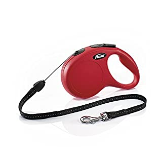 flexi new classic retractable lead cord, red, small, 8m, 12kg flexi New Classic Retractable Lead Cord, Red, Small, 8m, 12kg 414Y7oKNBgL