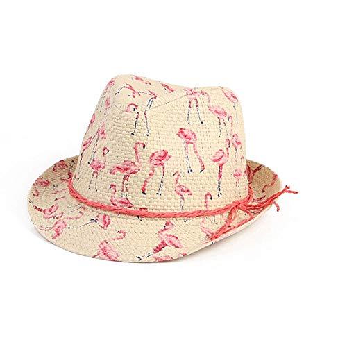 VISER Sommer Unisex Französisch romantischen Stil Stroh Cowboy Cowgirl-Hut mit Mandschurenkranichdruck Atmungsaktive Visier Formbare Krempe Cowboy Western Aussie Style Strand Sonnenhut Lässige Mode He - Aussie-cowboy-hut