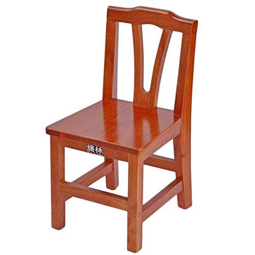 Z-DEYUSJUZS Kindersitz Hocker Eiche Massivholz Arbeitsstuhl Niedriger Stuhl 30 × 32 × 56cm - Bambus-eiche-stuhl