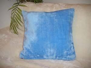 Coussin doux uni bleu glace avec garnissage 40 x 60