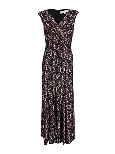 Tahari ASL Womens Lace Sequined Cocktail Dress