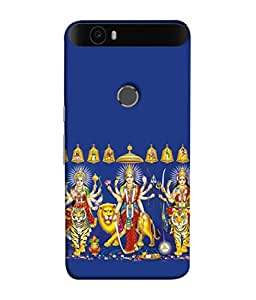 Fuson Designer Back Case Cover for Huawei Nexus 6P :: Huawei Google Nexus 6P (Hindu Godess Powerful Lady Navratri Dandiya)